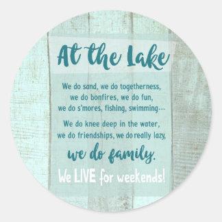 Sticker Rond Au lac