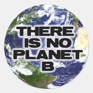 Sticker Rond Aucune planète B