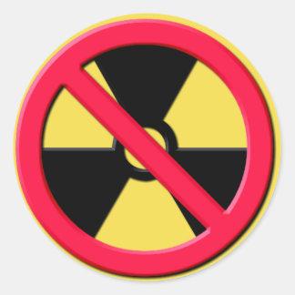 Sticker Rond Aucunes armes nucléaires