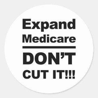 Sticker Rond Augmentez Assurance-maladie-Don't la coupent