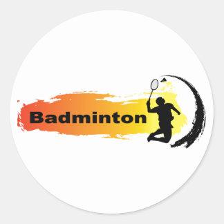 Sticker Rond Badminton unique