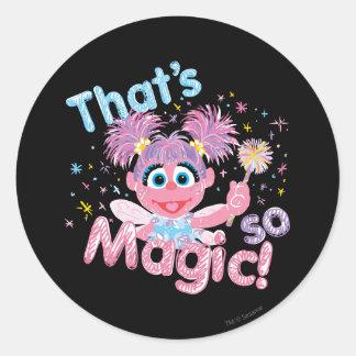 Sticker Rond Baguette magique d'Abby Cadabby
