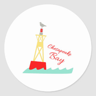 Sticker Rond Baie de chesapeake