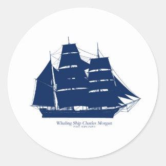 Sticker Rond baleinier élégant Charles Morgan de fernandes