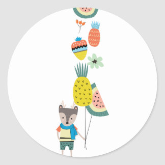Sticker Rond Ballons de fruit