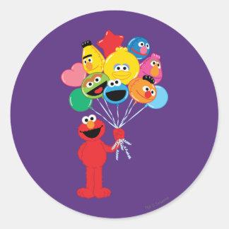 Sticker Rond Ballons d'Elmo