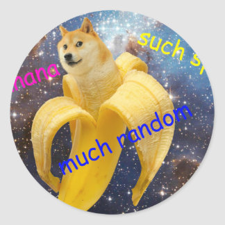 Sticker Rond banane   - doge - shibe - l'espace - wouah doge