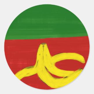 Sticker Rond Banane pop art