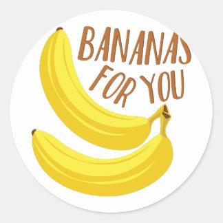 Sticker Rond Bananes pour vous