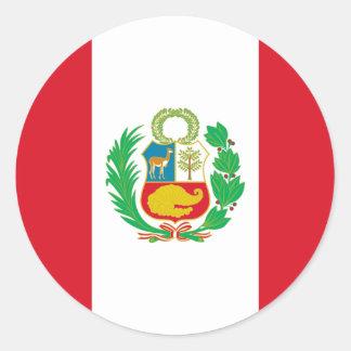 Sticker Rond Bandera del Perú - drapeau du Pérou