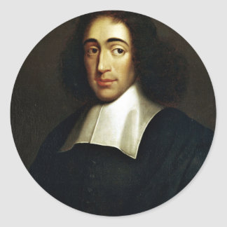 Sticker Rond Baruch Spinoza