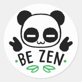 Sticker Rond Be Zen