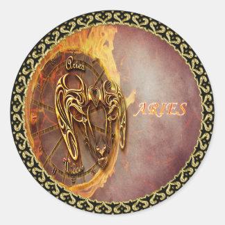 Sticker Rond Bélier horoscope du 21 mars jusqu'au 20 avril