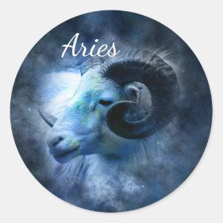 Sticker Rond Bélier l'autocollant d'astrologie d'horoscope de