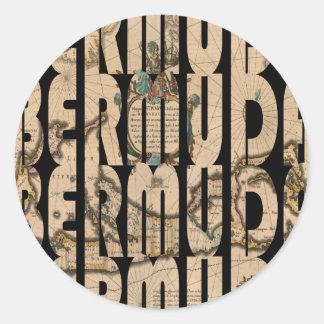 Sticker Rond bermuda1662 1