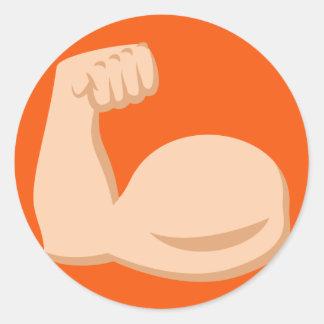 Sticker Rond Biceps Emoji