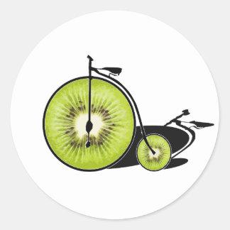 Sticker Rond Bicyclette de kiwi