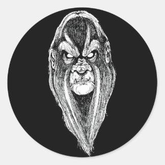 Sticker Rond Bigfoot