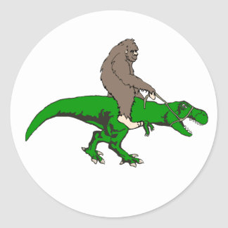 Sticker Rond Bigfoot montant T Rex