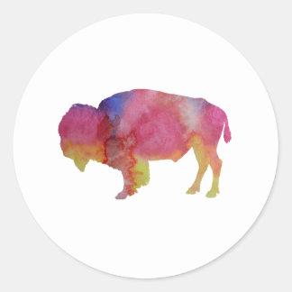 Sticker Rond Bison