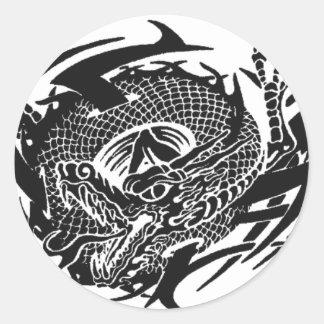 Sticker Rond Black Dragon 2.gif
