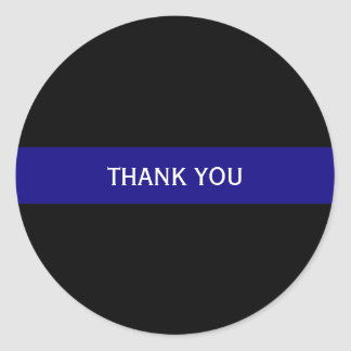 Sticker Rond Blue Line mince a personnalisé l'autocollant