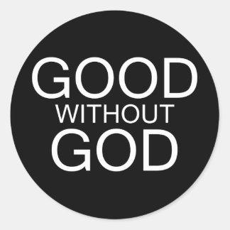 Sticker Rond Bon sans Dieu