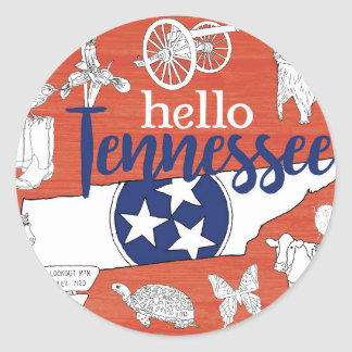 Sticker Rond Bonjour le Tennessee