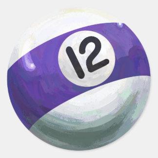 Sticker Rond Boule 12