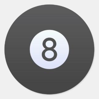 Sticker Rond Boule 8