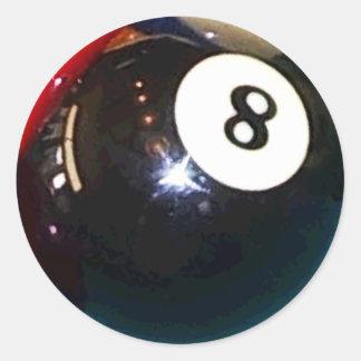 Sticker Rond boule de piscine 8-Ball