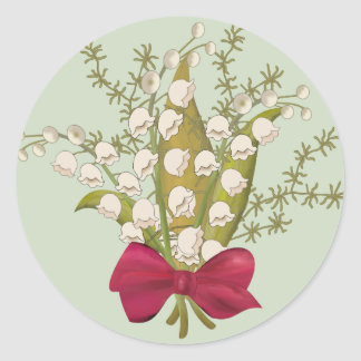Sticker Rond Bouquet du muguet