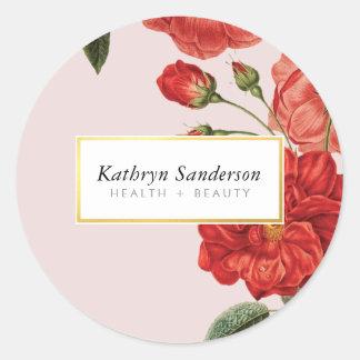 Sticker Rond Bouquet vintage élégant floral mignon d'eco de
