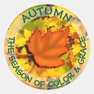 Sticker Rond Bouton de citation d'automne
