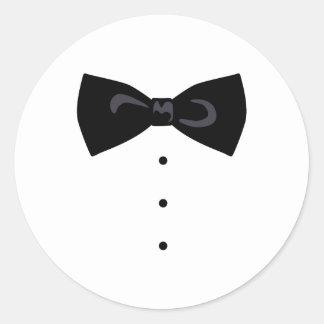 Sticker Rond Bowtie noir