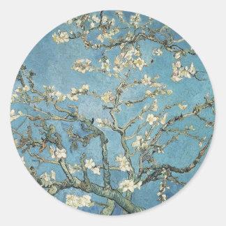 Sticker Rond Branches d'amande de Vincent van Gogh | en fleur,