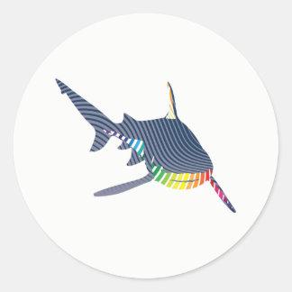Sticker Rond Bruissement de couleur de requin