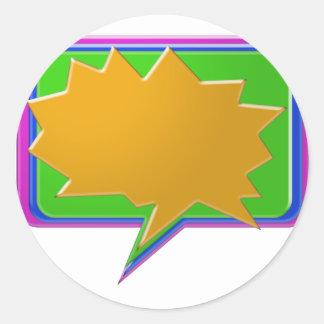 Sticker Rond Bulle d'ENTRETIEN : Ajoutez le texte ou le modèle