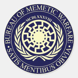 Sticker Rond Bureau de la guerre de Memetic