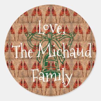 Sticker Rond Cadeau de famille de vacances
