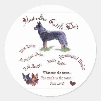 Sticker Rond Cadeaux australiens de chien de bétail