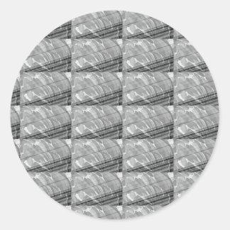 Sticker Rond CADEAUX d'AMUSEMENT blancs d'impression de vague