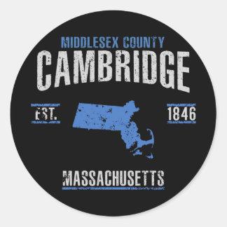 Sticker Rond Cambridge