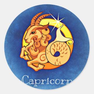 Sticker Rond Capricorne, Capricorno