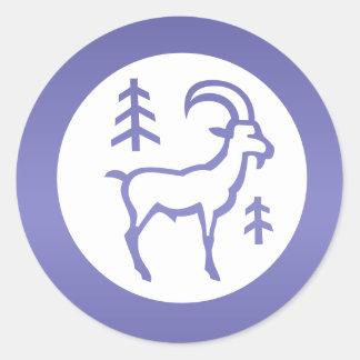 Sticker Rond Capricorne de ZODIAQUE