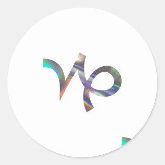 Sticker Rond Capricorne d'hologramme