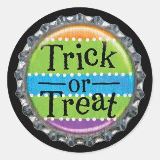 Sticker Rond Capsule de des bonbons ou un sort de Halloween