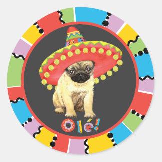 Sticker Rond Carlin de fiesta
