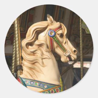 Sticker Rond Carousel_Horse