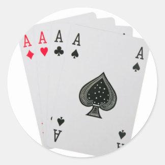 Sticker Rond Cartes de jeu